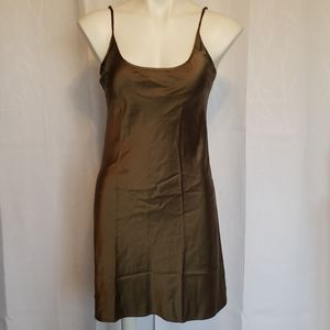 Curve size Large Olive Green Silk Chemise
